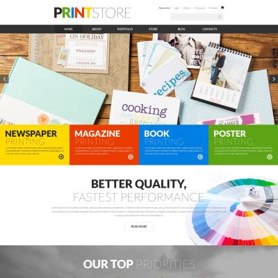 Ecommerce Templates Template Monster Printing Ecommerce Website Template