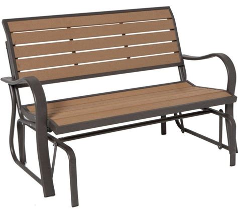 lifetime benches wood alternative patio glider bench 60055