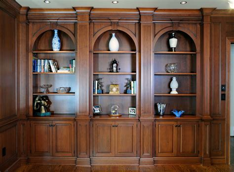 bookshelves cherry wood arched cherry wood bookcases custom cabinetry by