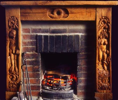Fireplaces Wales by Carved Oak Surrounds Great Oak Glass