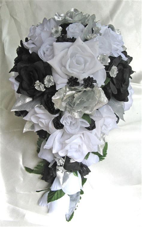 black white silver roses and dreams