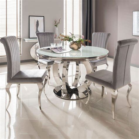 glass table for 6 ohio cm white glass chrome dining table for 6 unique