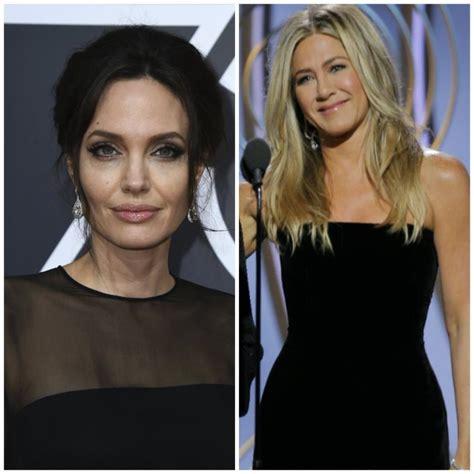 Pink Living Room Oscars 2018 Did Jennifer Aniston And Angelina Jolie Have