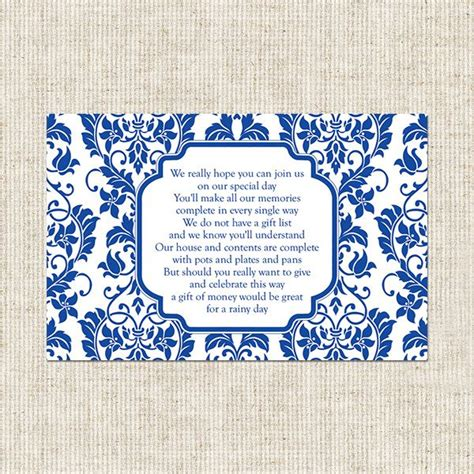 gift card bridal shower invitation poem gift card poem for bridal shower delicate swirl pattern gift poem card wedding shower ideas