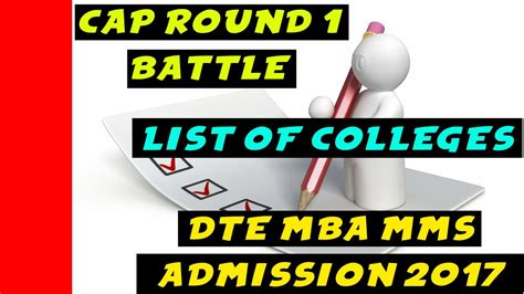 Dte Mba Cap by List Of Colleges For Option Form Of Cap 1 Dte