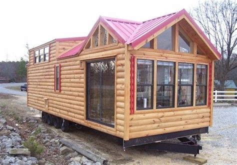 Log Cabin Trailer Homes by I Wanna Place One Of These In The Empty Space Across From