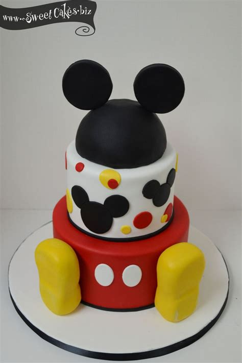 ideas  mickey birthday cakes  pinterest