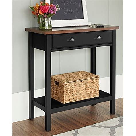 bed bath and beyond sofa table chatham house newport console table with drawer bed bath