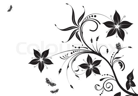 floral ornament mit butterfly element f 252 r design