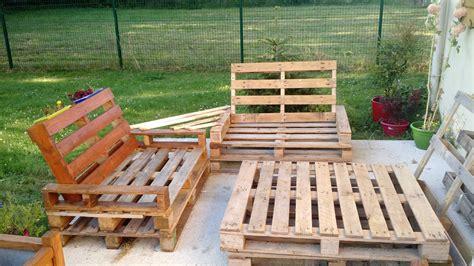 Mobilier En Palette Bois by Mobilier De Jardin En Palette