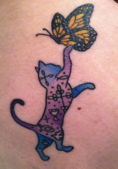 tattoo cat and butterfly unique cat tattoos google search catoes pinterest