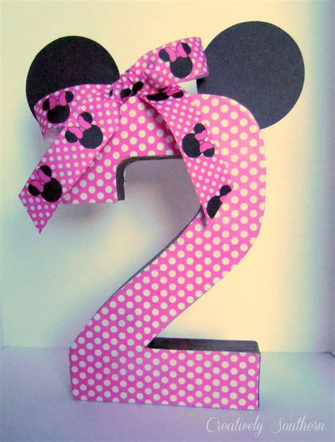 Minnie Mouse Handmade Decorations - minnie mouse birthday and paper mache