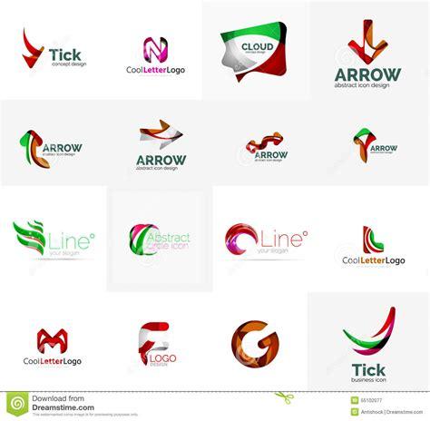 set of universal company logo ideas business icon stock
