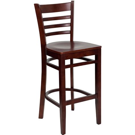 Ladder Back Bar Stool Flash Furniture Xu Dgw0005barlad Mah Gg Ladder Back Wood Bar Stool With Mahogany Finish Lionsdeal