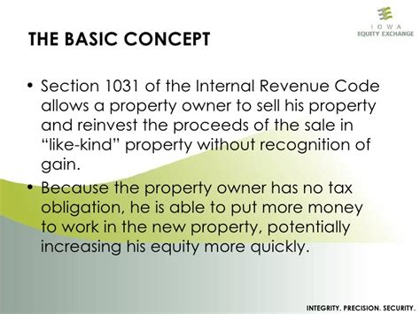 Section 1031 Exchange The Basics