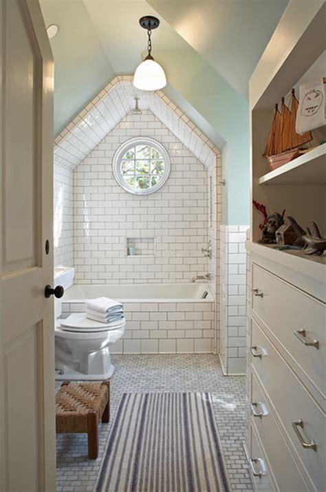 attic bathroom sloped ceiling 15 attics turned into breathtaking bathrooms