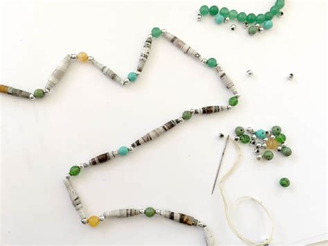 How To Make A Paper Bead Necklace - how to make paper a and easy jewelry