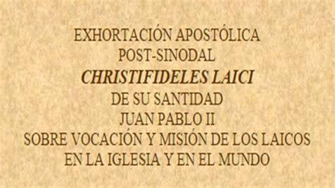 el mundo especulativo de los ministerios elim de guatemala christifideles laici vocaci 211 n y misi 211 n de los laicos en