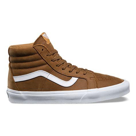 Sepatu Vans Sk8 Hi Premium premium leather sk8 hi reissue shop shoes at vans