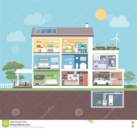 boiler room los angeles kiddys shop com modern house with rooms stock vector image 77543659