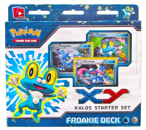 Kartu Trading Card Water X And Y Froakie Dkk trading card x and y starter sets froakie deck www toysonfire ca