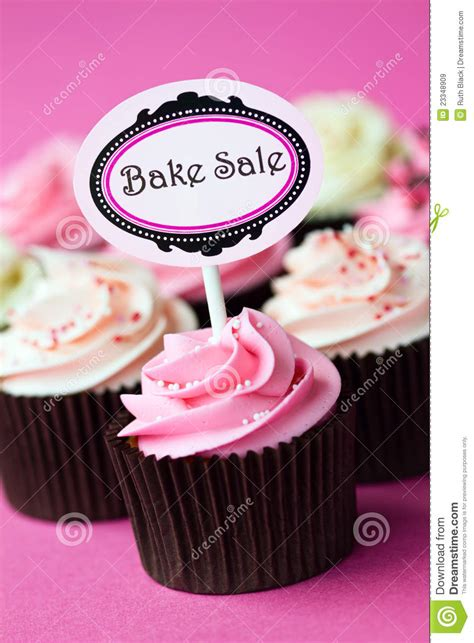 cupcakes for a bake sale royalty free stock images image