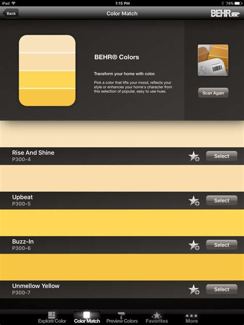 colorsmart by behr 174 mobile apppicker