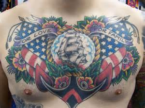 chest old anchor usa tattoo by aloha monkey tattoo
