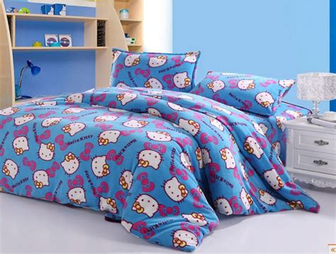 Hello Kitty Bed Set Blue Hello Bed Set