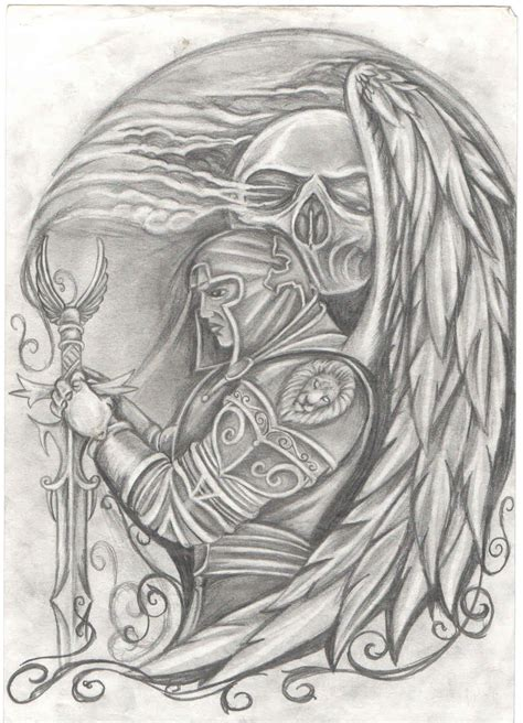 angel warrior tattoo designs warrior by kiddotattoo on deviantart