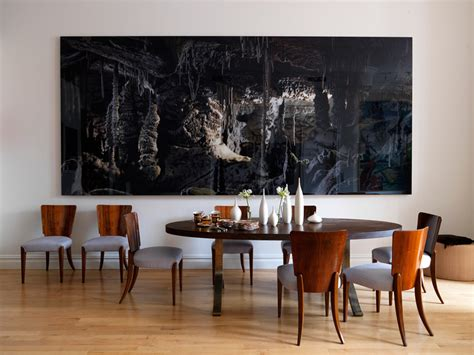 Dining Room Abstract How To Add The Wow Factor Through Modern Wall