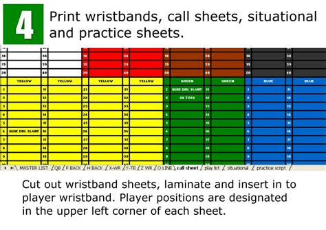 football call sheet template 28 wrist coach template wristband template