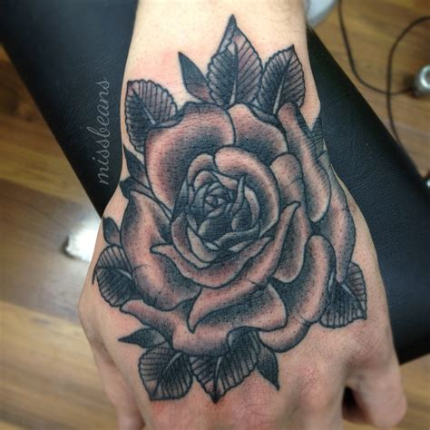 rose tattoo hand tattoos images pictures becuo