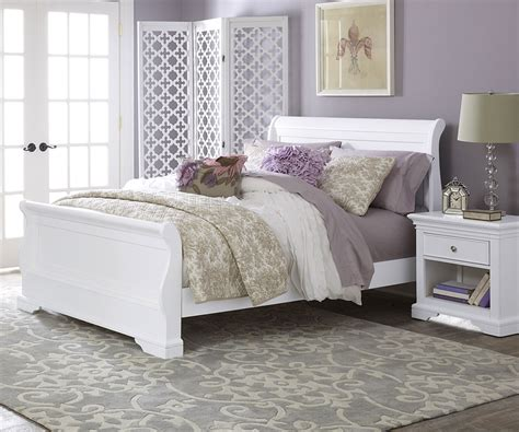 white full size bed 8030 riley sleigh bed white with trundle storage drawers