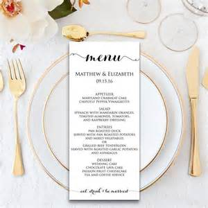 wedding menu wedding menu template menu cards menu printable formal wedding wedding dinner