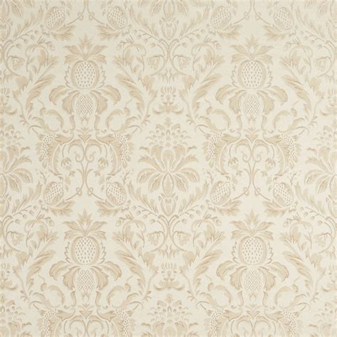 Damask Fabric For Upholstery by F555 Ivory Floral Pineapple Damask Upholstery Drapery