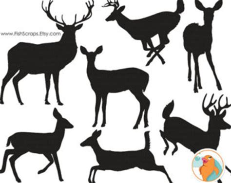 full body reindeer silhouette clipart clipground
