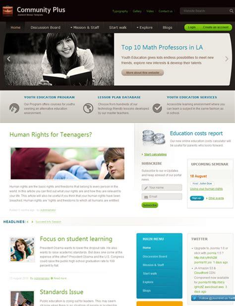 template joomla community ja community plus versatile joomla template joomla