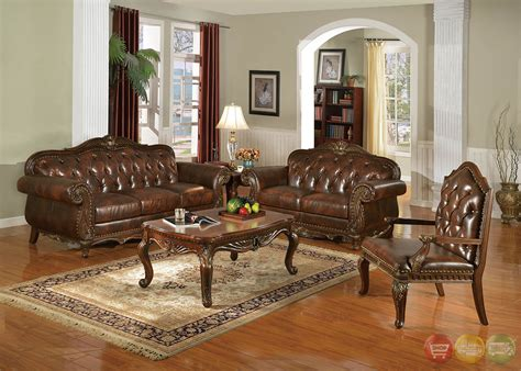 traditional living room sets irina traditional dark wood formal living room sets with