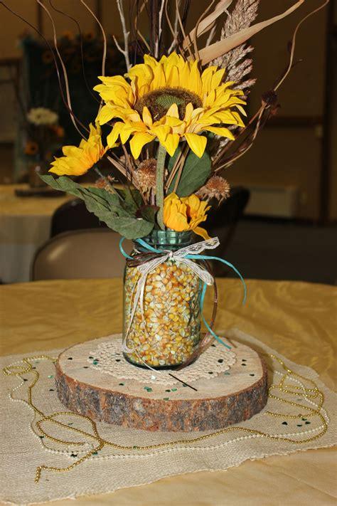 table centerpiece pat andrea s reception in 2019 sunflower wedding centerpieces wedding