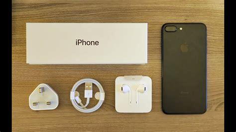 iphone 7 plus matte black unboxing