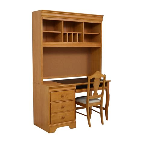 wood desk and hutch 40 off stanley furniture stanley furniture custom oak