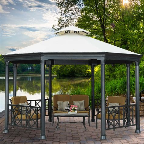 black gazebo sunjoy gazebo usa