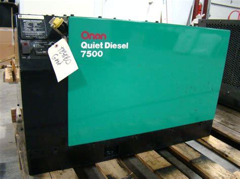 generators onan generators used like new 7500