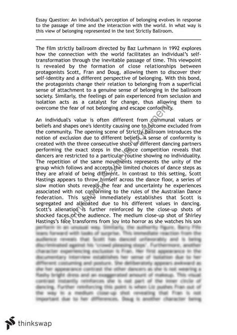 essay structure belonging strictly ballroom belonging essay conclusion