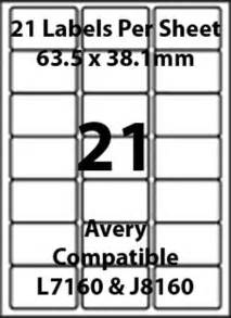 inkjet label templates avery l7160 compatible inkjet laser 21 blank address