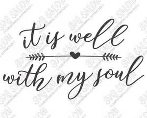 Toilet Mug it is well with my soul christian custom diy sign decal