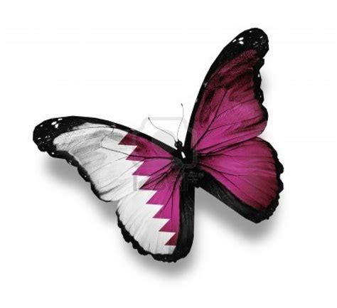 mariposa en word 12676271 qatar bandera de mariposa aislado en blanco
