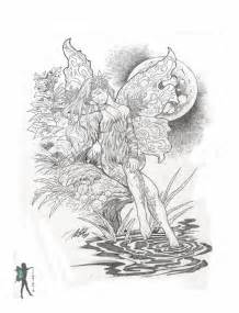 coloring pages for adults fairies enchanted designs mermaid free