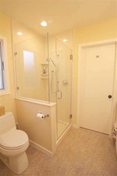 Marmoleum Flooring, Cultured Marble Shower Insert with